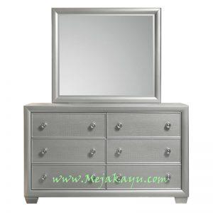 Meja Rias Minimalis Warna Silver