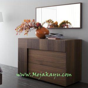 Meja Rias Kayu Jati Minimalis Modern