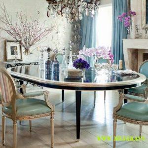 Set Meja Makan Oval Mewah