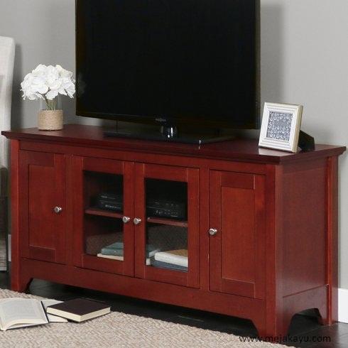 Meja Tv Warna Merah