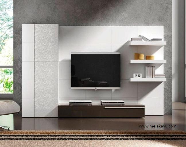 Meja TV dengan Wall Rak
