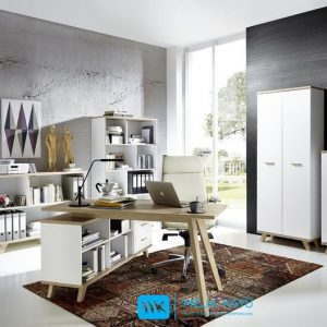 Set Meja Kantor Model Secandinavian