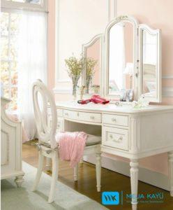 Meja Rias Klasik Cat Duco 3 Cermin