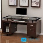Meja Kantor Top Kaca