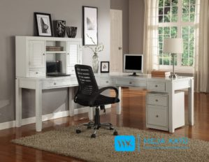 Set Meja Kantor Minimalis Pintu Krepyak