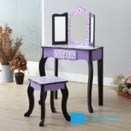 Meja Rias Anak 3 Cermin Warna Violet