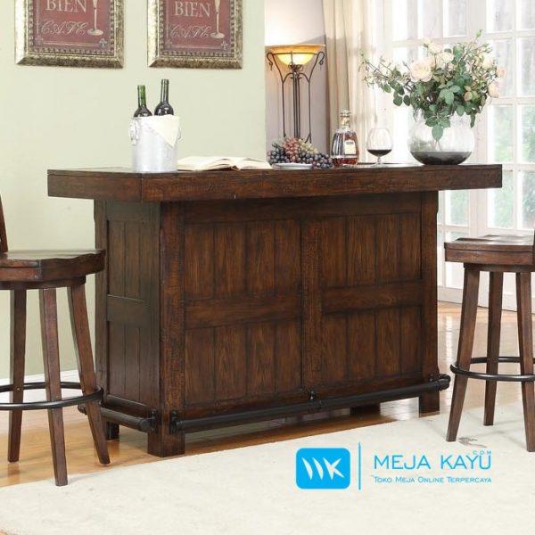 meja bar kayu jati antik