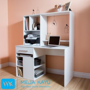 Meja Kantor Bentuk Rak Cat Duco