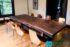 Meja Makan Solid Wood Kursi Besi
