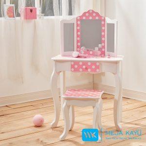 Meja Rias Anak Kupu-Kupu Pink