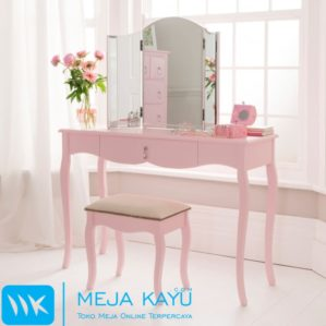 Meja Rias Antiq Warna Pink