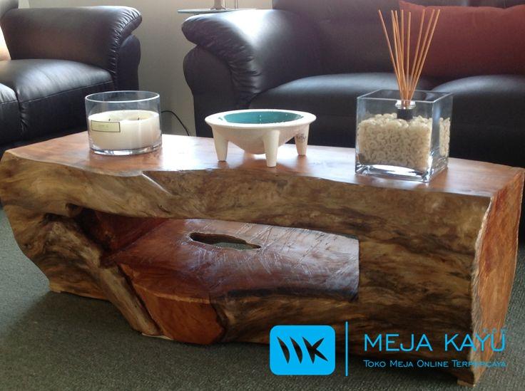 Meja tamu Kayu Balok utuh yang antik dan menarik
