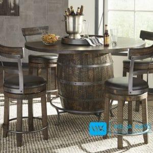 Meja Bar Vintage Model Barrel